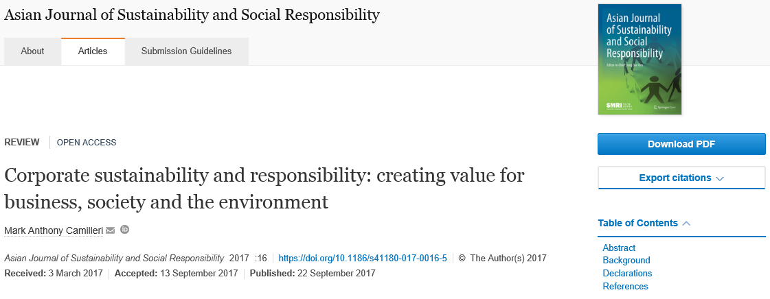 Business substantia mea corporate sustainability and responsibility creating value for business society and the environment fandeluxe Gallery